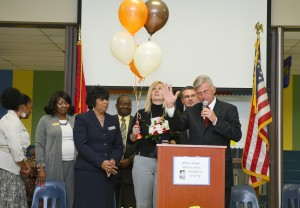 Governor Mike Beebe recognizes Zsuzsanna Diamond, 2012 Milken Award Winner